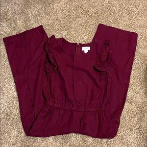 Old navy girls burgundy jumpsuit
